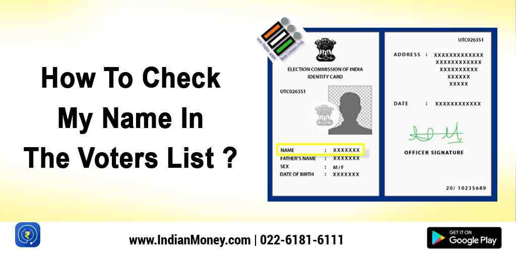 How To Check My Name In The Voters List?