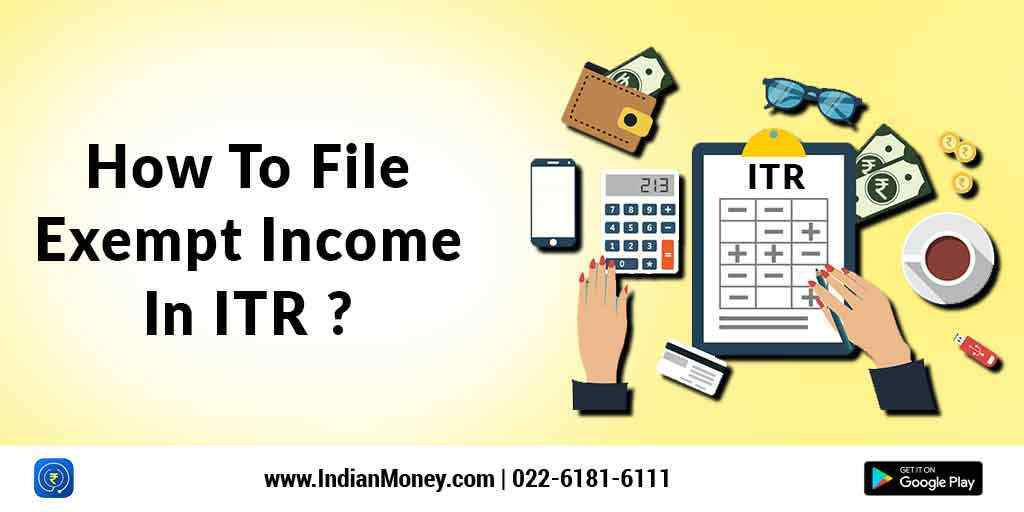 How To File Exempt Income In ITR?