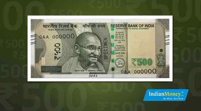 New 500 Rupee Note