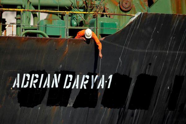 Iran tanker heads to Greece, Iran warns U.S against seizure bid